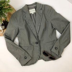 Banana Republic Blazer Jacket Size 4 Gray Checked